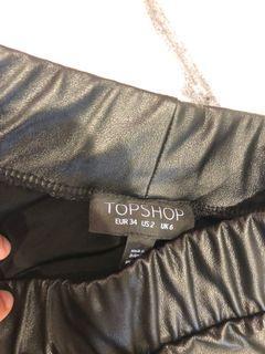 Topshop leggings leather
