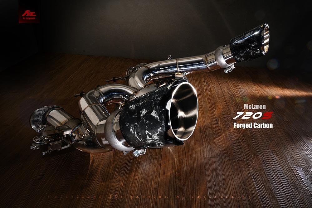 【YGAUTO】FI McLaren 邁凱倫 720S Forged Carbon (鍛造碳纖維) 中尾段閥門排氣管 全新升級 底盤