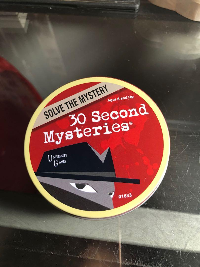 30 Second Mystery Game Cards