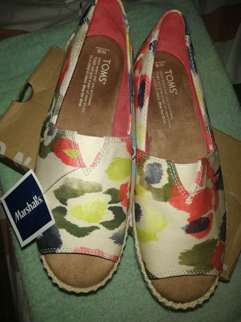 Alpargata Toms open toe flat shoes