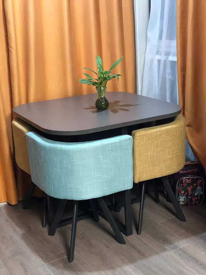 Dining Table Space Saver 4 Seater Home Furniture Furniture Fixtures Tables Chairs On Carousell