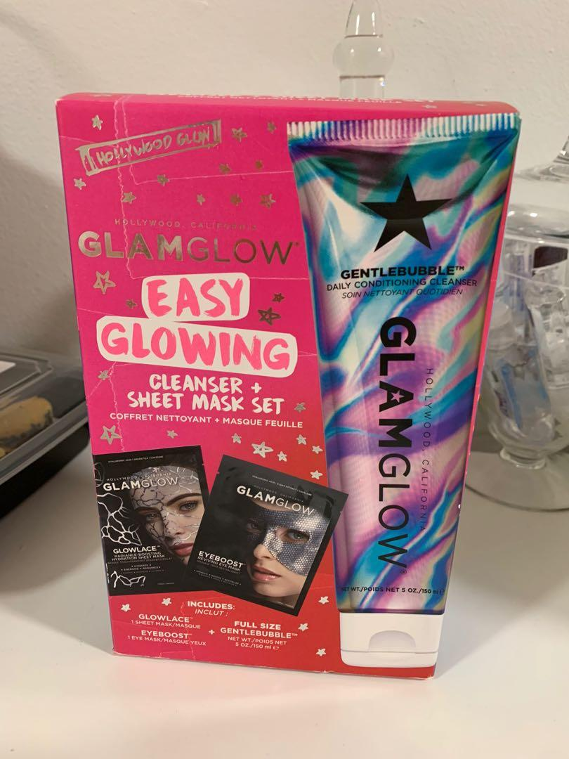 Glam Glow Mask and Cleanser set