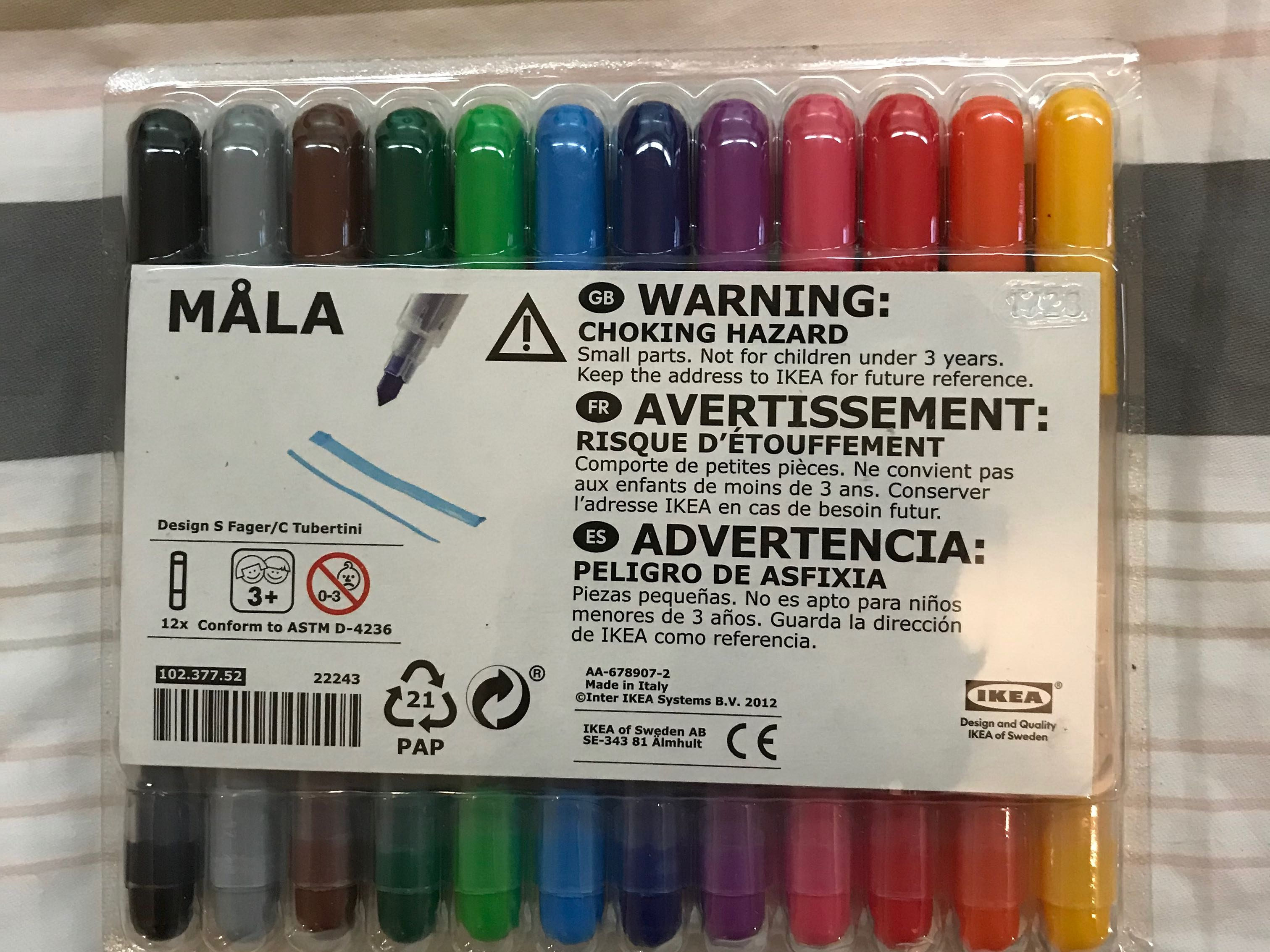 ikea 12pcs marker set