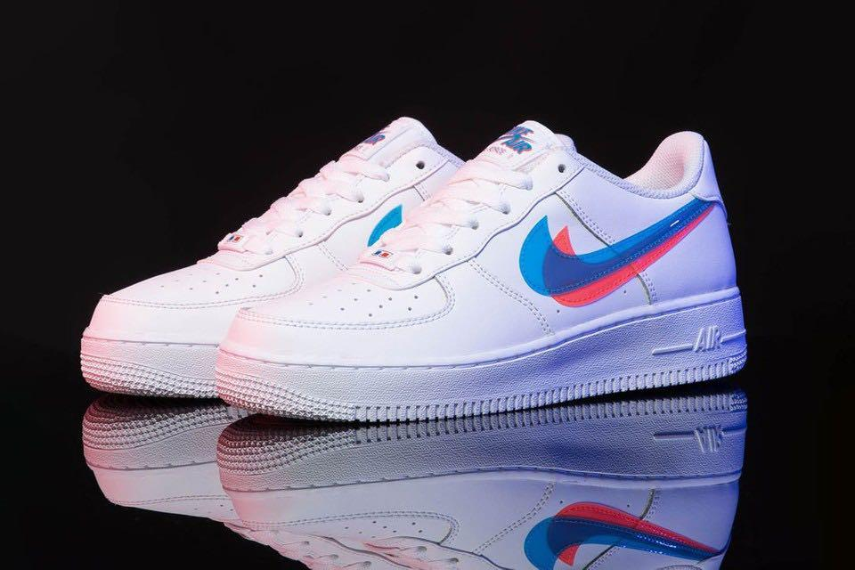 Nike Air Force 1 Low 3D Swoosh In White