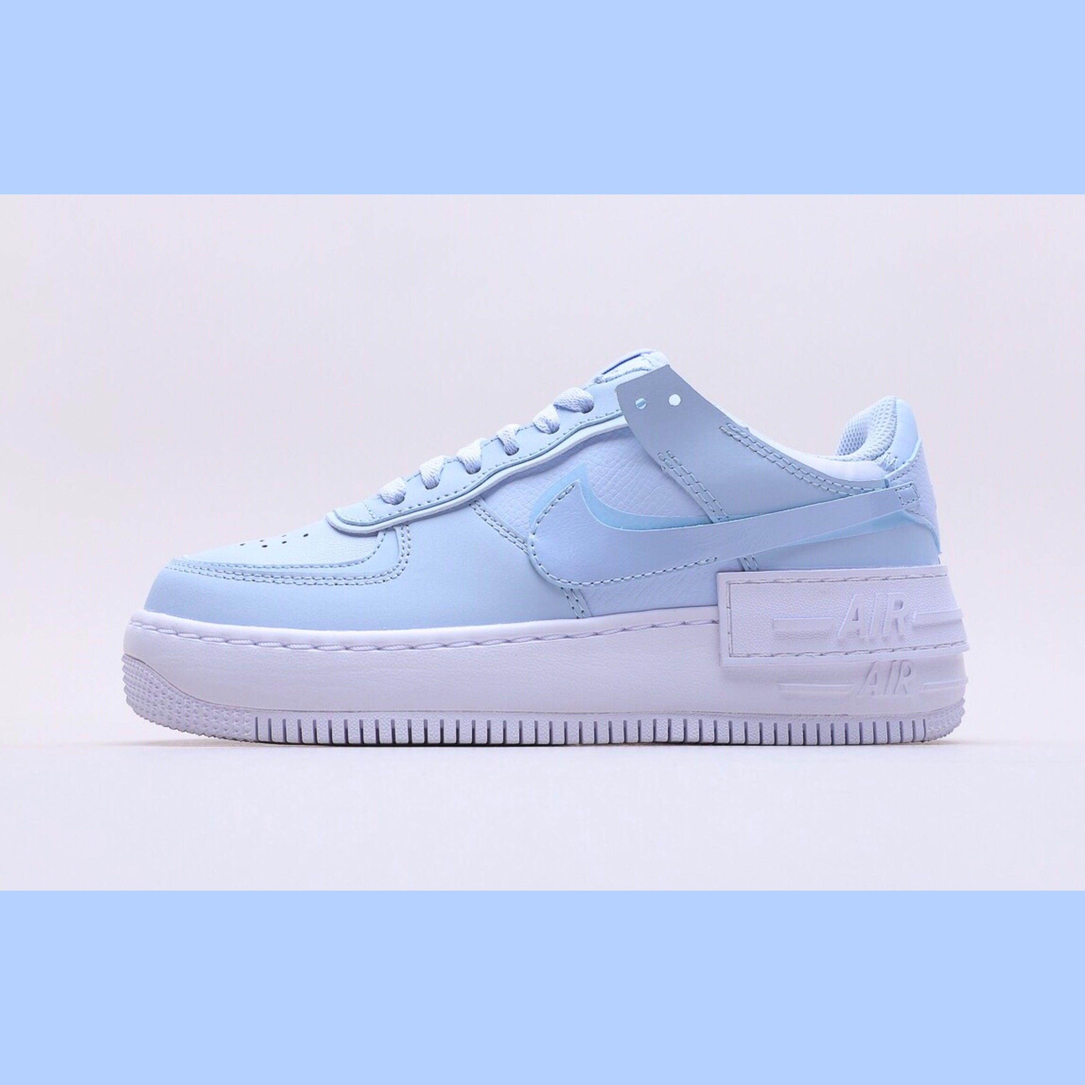 Nike Air Force 1 Shadow Hydrogen Blue Women S Fashion Shoes Sneakers On Carousell Nike air force 1 low shadow co. sgd