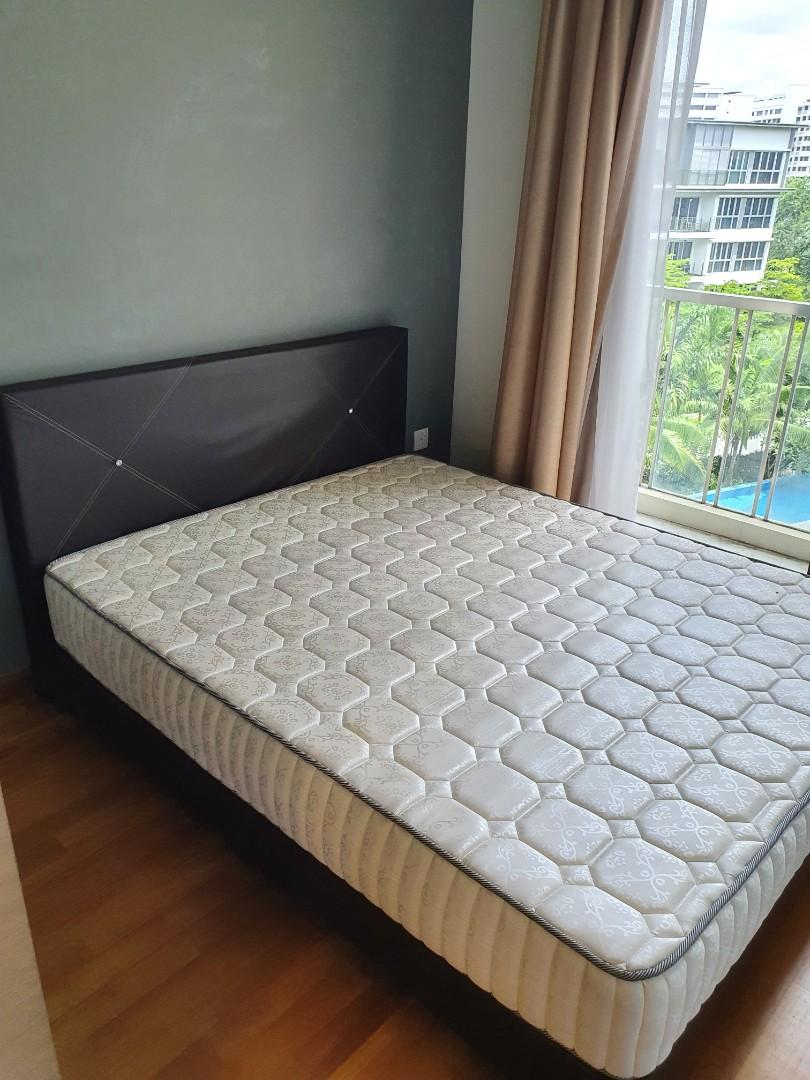 Queen Size Mattress With Bed Frame Furniture Beds Mattresses On Carousell