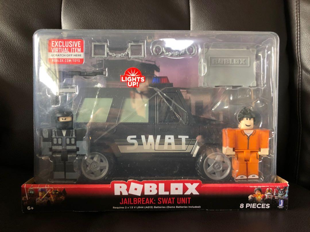 Category New Cars Roblox Jailbreak Roblox Jailbreak Swat Unit Toys Games Bricks Figurines On Carousell