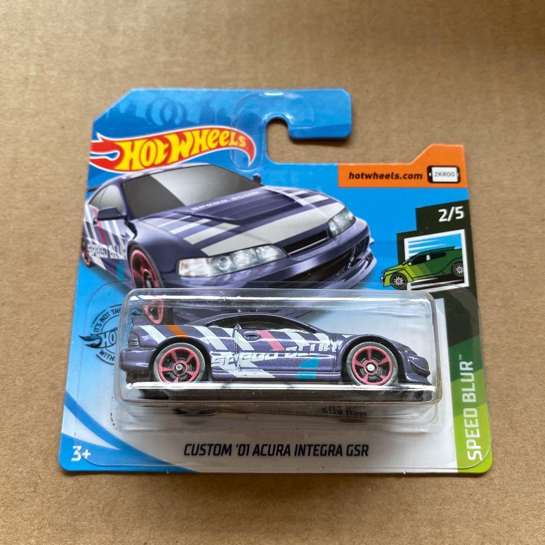 Short Card Hot Wheels Custom 01 Honda Acura Integra Gsr Purple Toys Games Bricks Figurines On Carousell