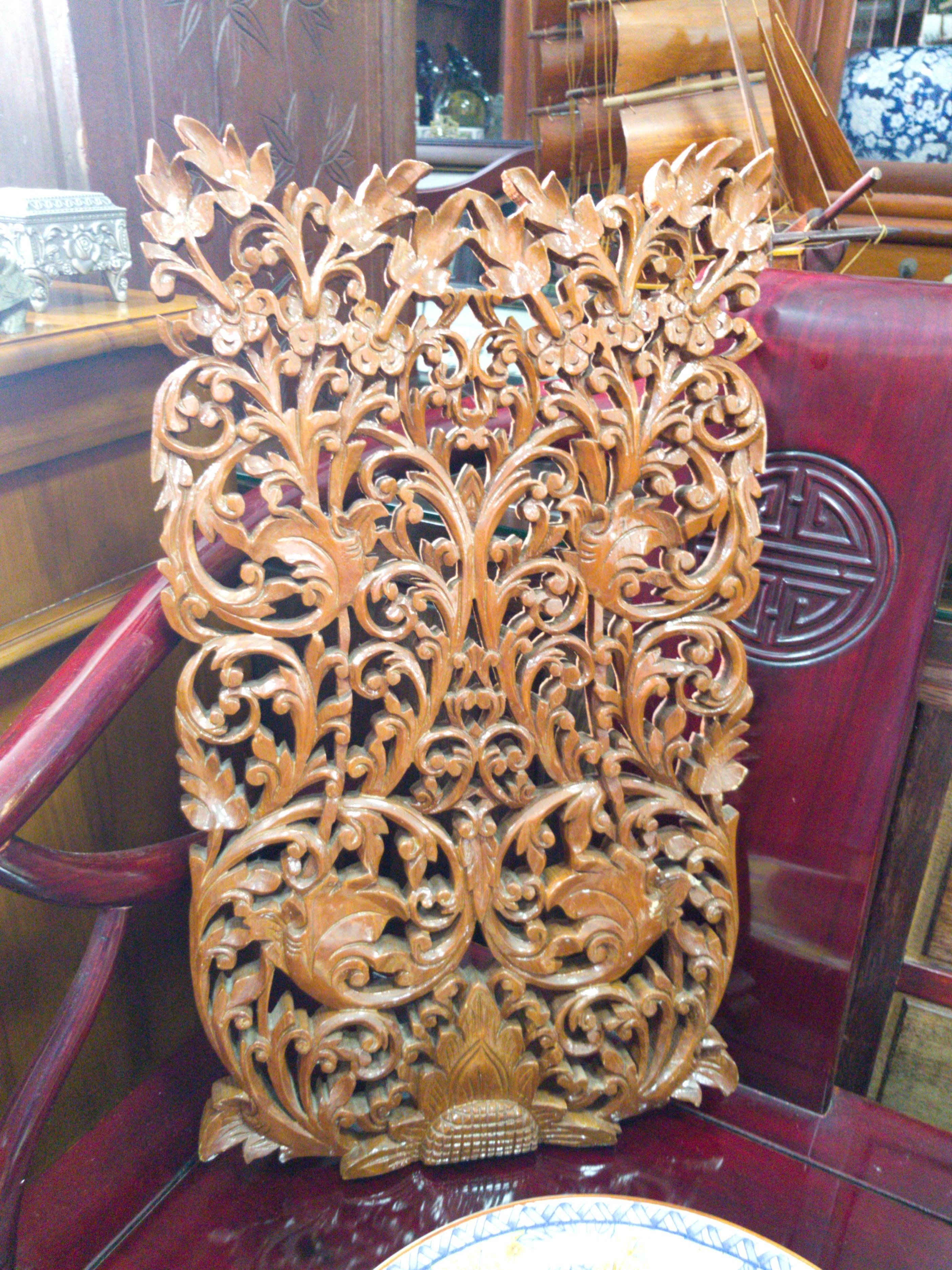 Teakwood Wall Display Carving Design Craft Handmade Craft On Carousell