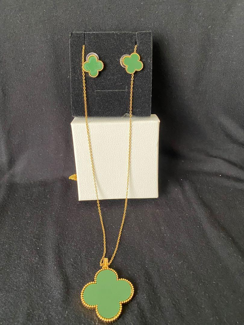 VCA Inspired necklace ad earring set