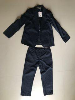 深藍條紋西裝外套&褲子 #全新未拆