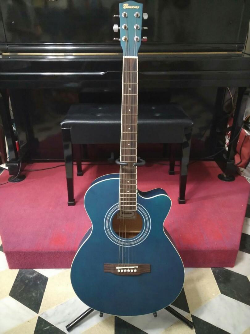 Bensons 藍綠色 木吉他