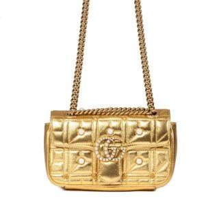 GUCCI MINI GOLD PEARL MARMONT MATELASSE BAG