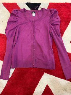 H&M紫色針織外套