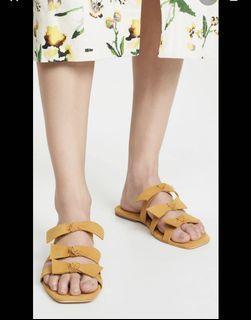 歐美品牌Jeffrey Campbell 夏日麂皮蝴蝶結平底拖鞋 #度假風  #低於五折