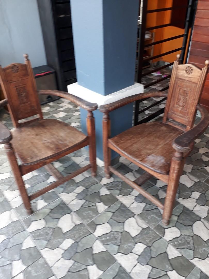 Kerusi Lama Kayu Antiques Antique Furniture On Carousell
