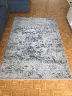 Living room grey rug - like new