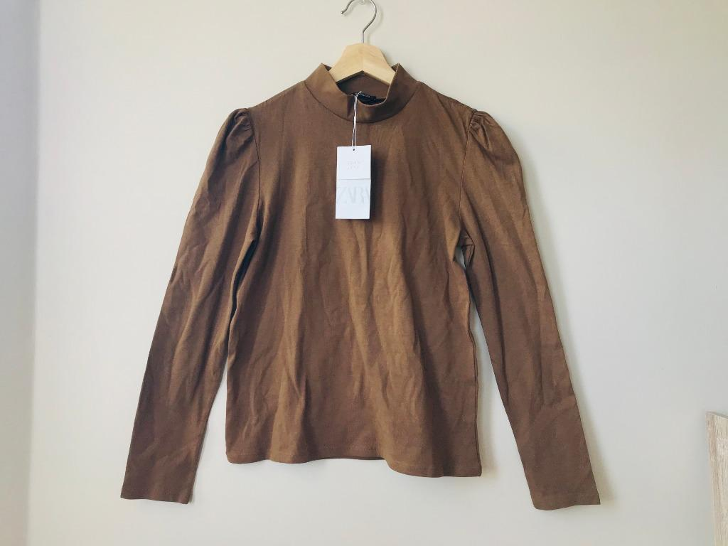 NEW ZARA Chocolate Structured Top (M)