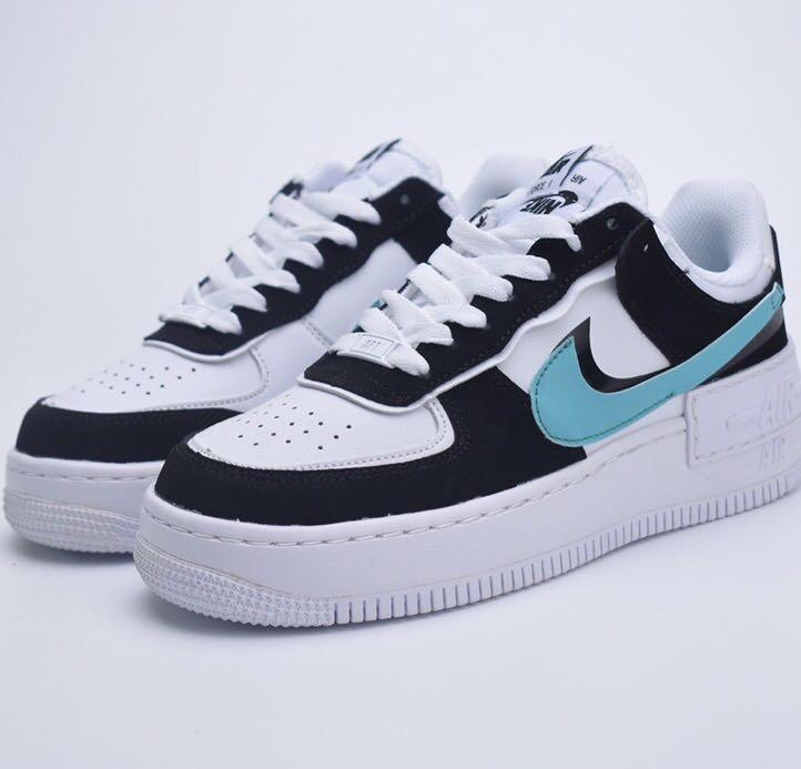 Nike Air Force 1 Shadow Black Teal Tiffany Blue Women S Fashion Shoes Sneakers On Carousell Layered pieces add rich texture. nike air force 1 shadow black teal tiffany blue