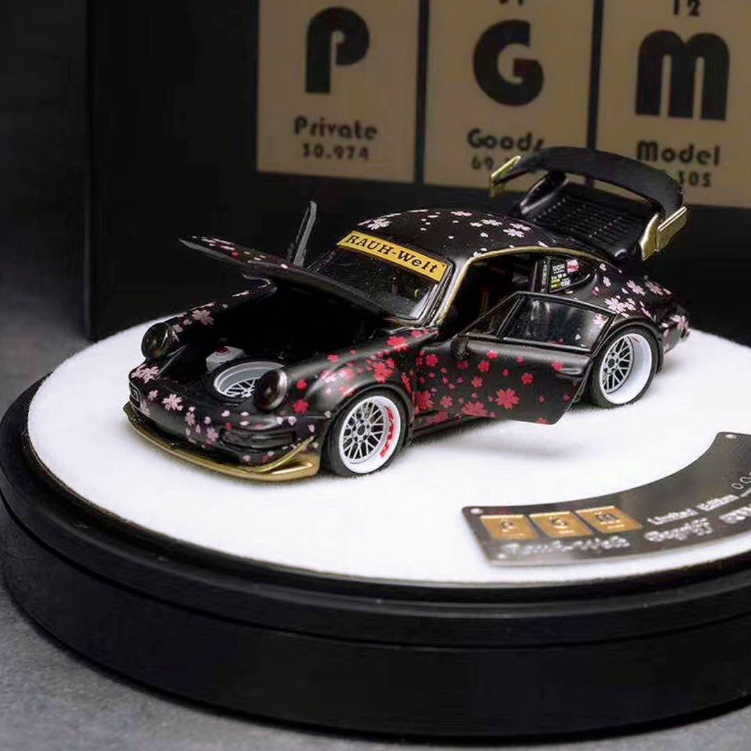 Pgm Model 1 64 Rauh Welt Porsche Rwb 964 Black Cherry Blossom Luxury Package Edition Toys Games Bricks Figurines On Carousell