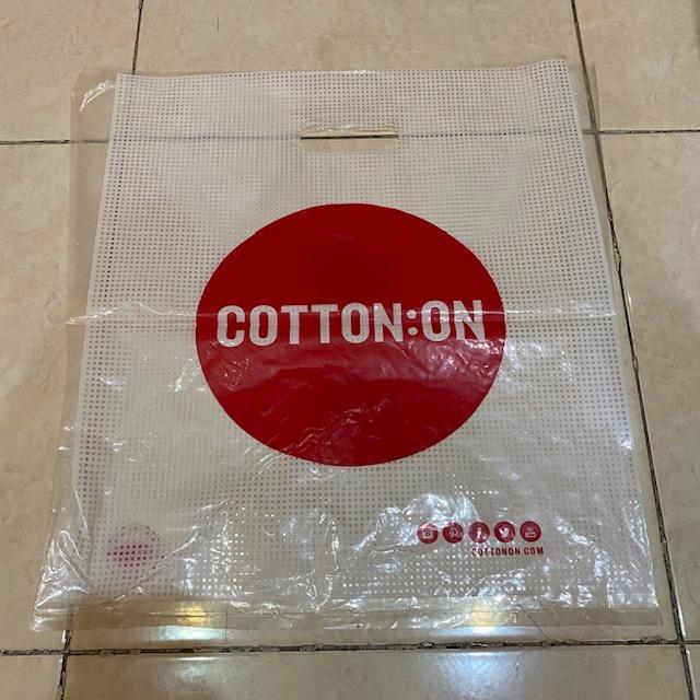 plastik paper bag cotton on