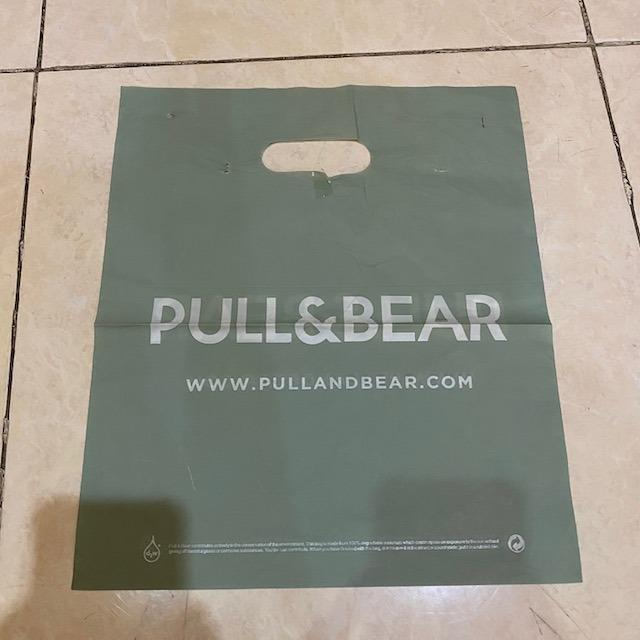 plastik paper bag pull and bear size S
