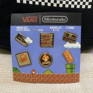 Vans x Nintendo 別針 任天堂 超級瑪利歐 收藏 絕版