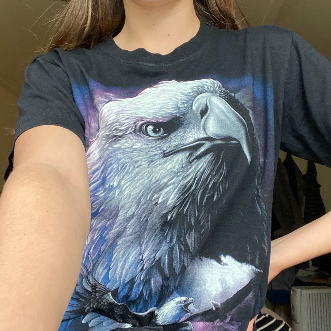 Vintage black T shirt with eagle 🦅