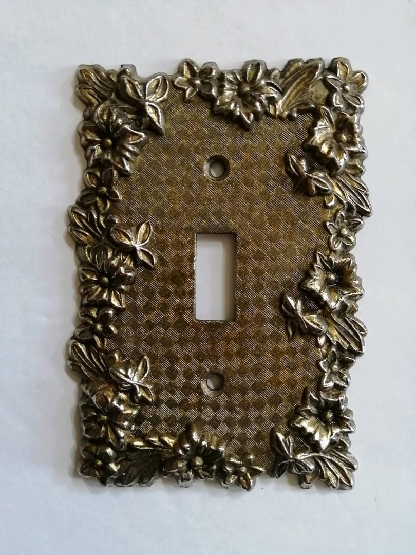 Vintage light switch plate