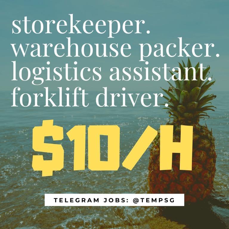 Warehouse Packer / Forklift Driver ($10/H / ISLANDWIDE)