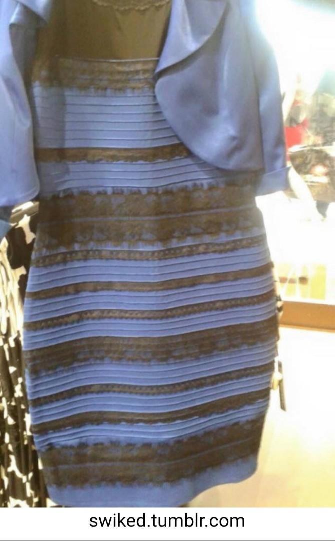 您看到這件洋裝是什麼顏色呢?