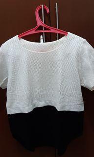 Baju Formal Hitam Putih