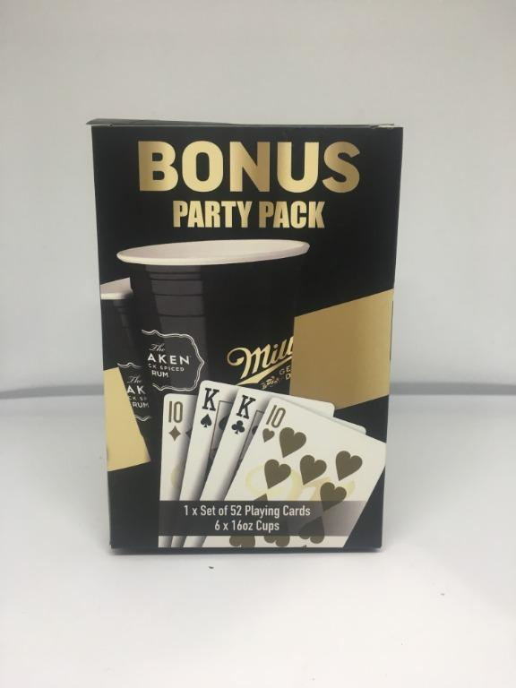 Bonus Party Pack ( 52 Playing Cards + 6 x 16oz Cups)
