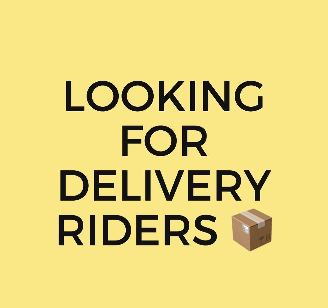 Delivery rider needed urgently ‼️
