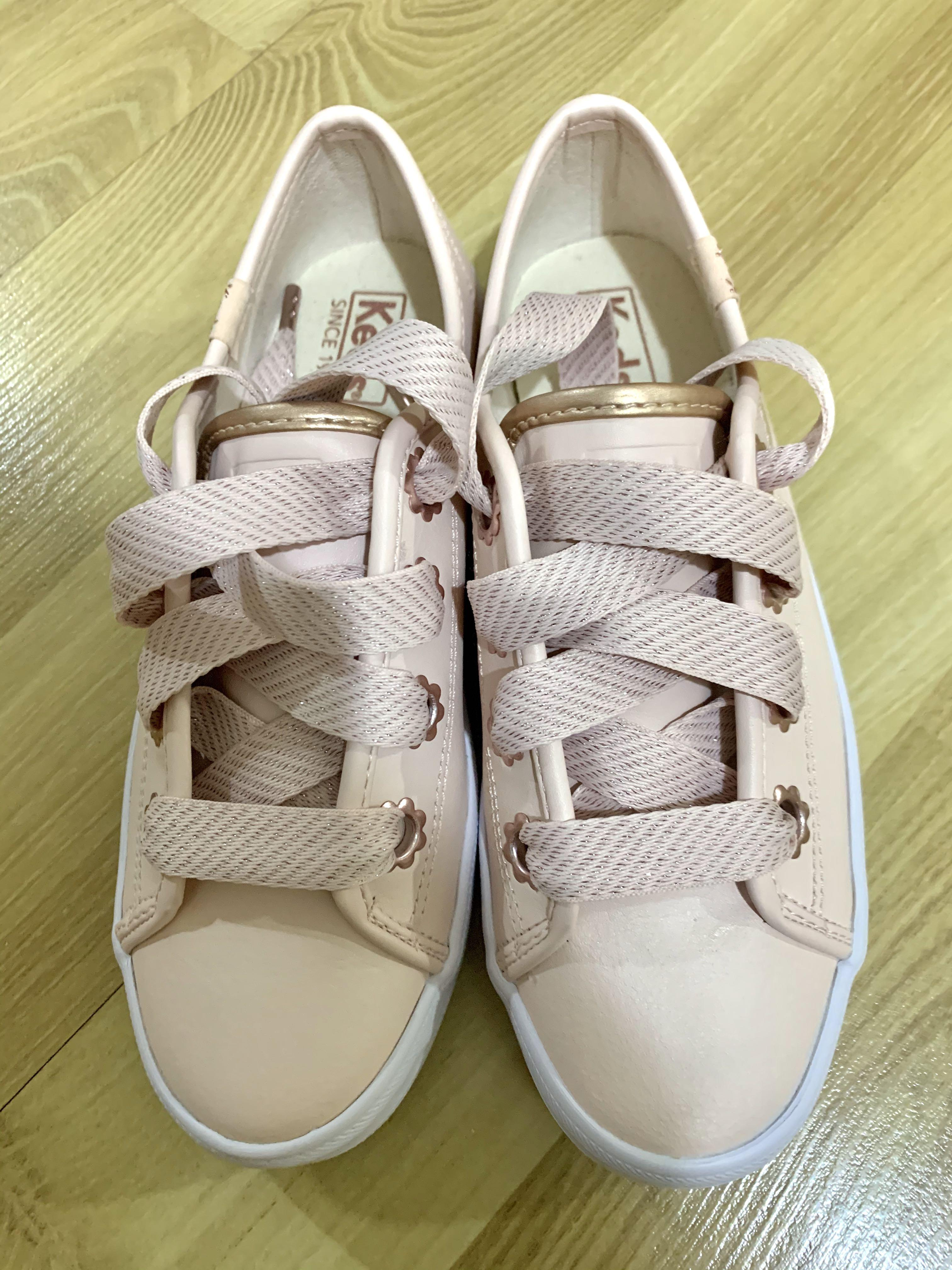 KEDS - Pink leather sneakers, Women's