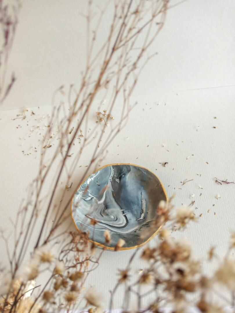 Marble Ring Bowl / Trinket dish / Room Decor