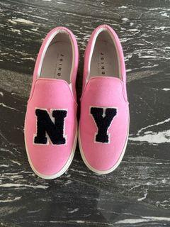 NY 粉色 增高鞋 正版 休閒鞋