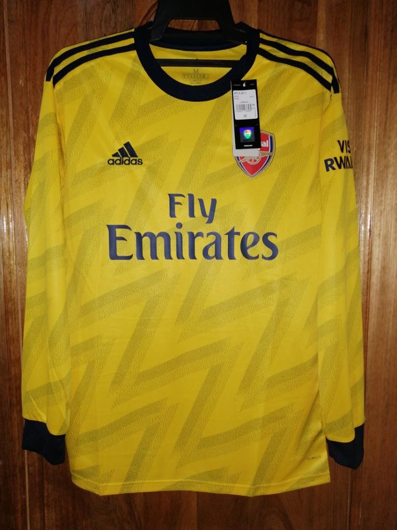 Original Arsenal Fc Long Sleeves 2019 20 Away Banana Bruised Kit Rare Bnwt Sports Athletic Sports Clothing On Carousell