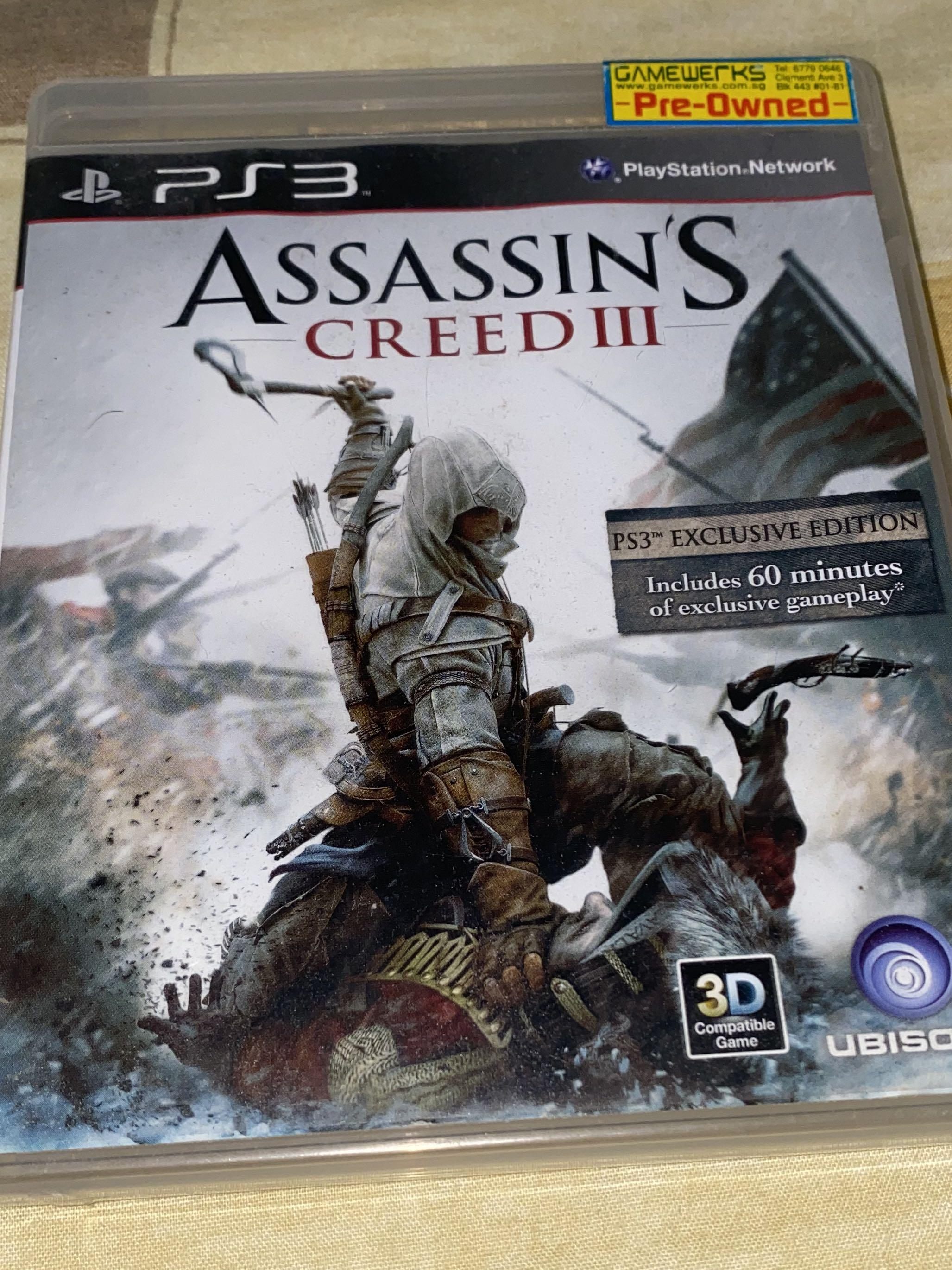 Ps3 Assassin S Creed Iii Toys Games Video Gaming Video