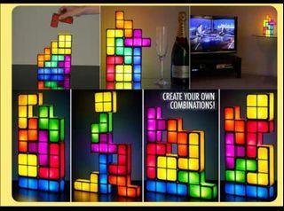 Tetris brick game kids night light led