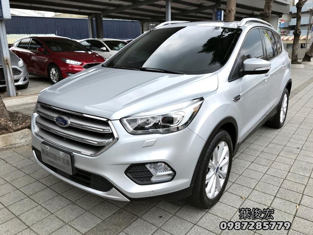 福特原廠認證中古車2018年Ford KUGA 汽油2.0頂級旗艦 EcoBoost245 智慧四傳 原廠認證保固