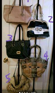 5 Guess purses, used in great condition