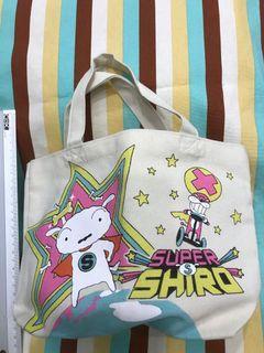 全新日本購入正版 蠟筆小新 新款 小白手提袋