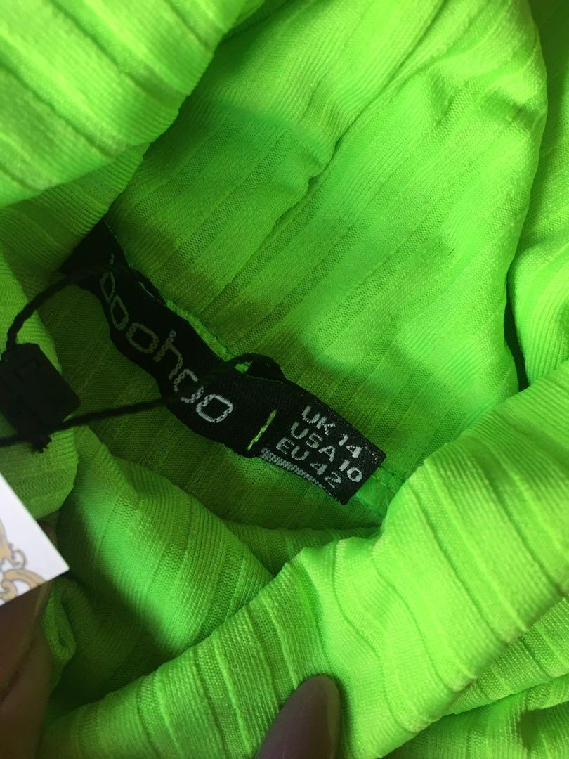 Boohoo Neon Bodysuit