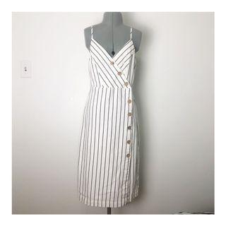 Button-down Dress in White