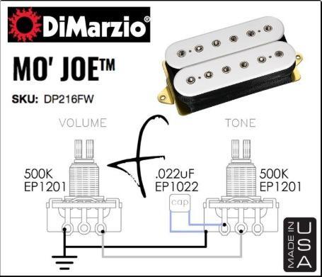 DiMarzio DP216FW Mo' Joe F-Spaced Humbucker Pickup, White (DP216), Music &  Media, Music Accessories on CarousellCarousell