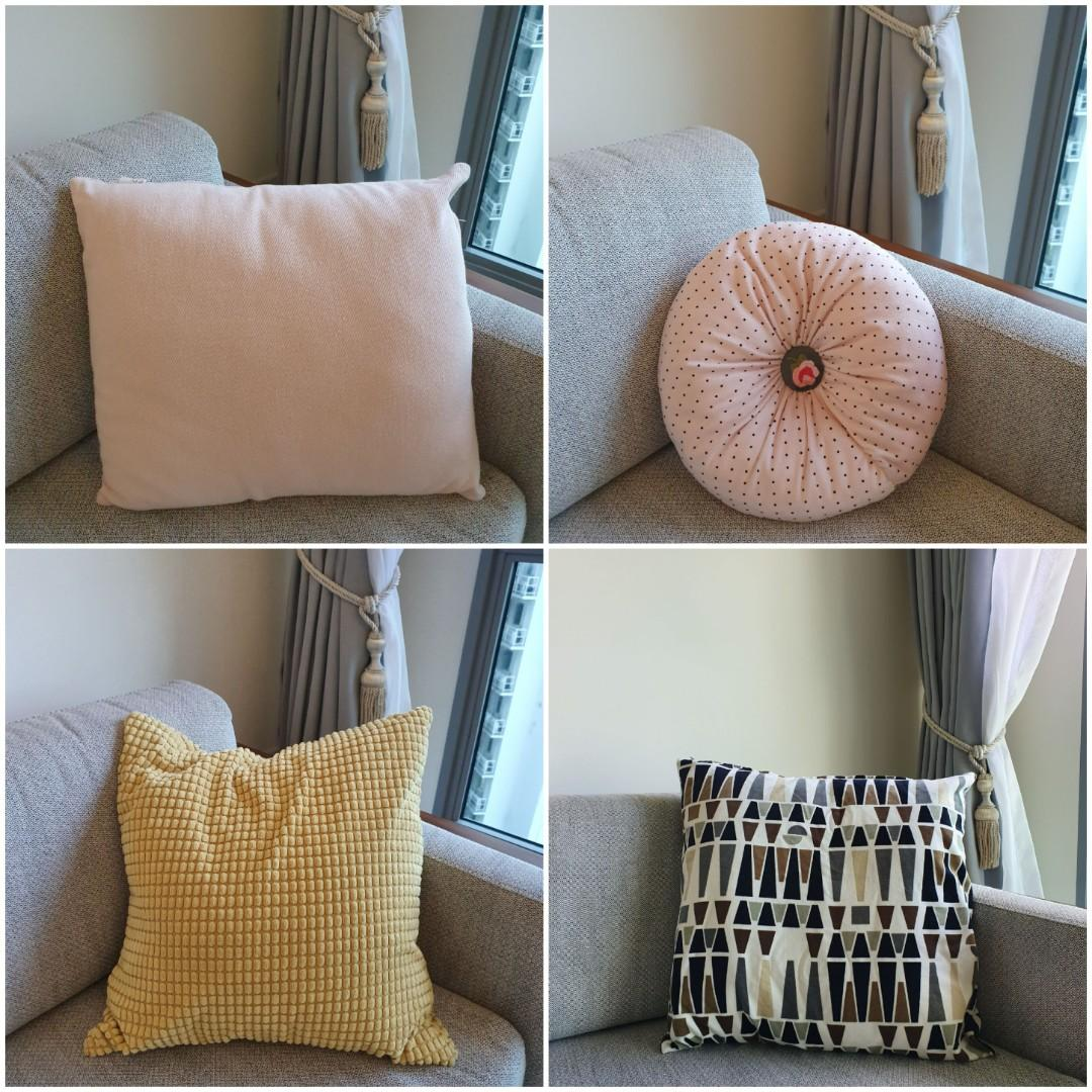 Ikea Cushions Furniture Home Decor Cushions Linen On Carousell