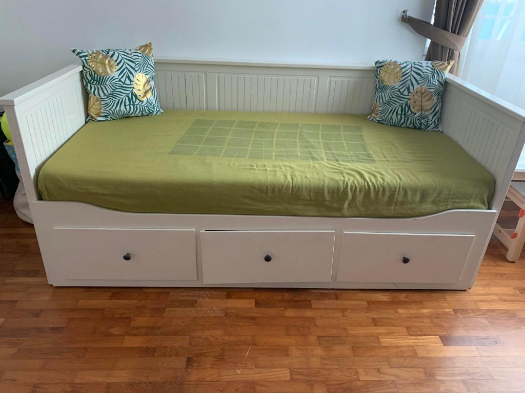 Picture of: Ikea Double Bed Pull Out Bed With Mattress Furniture Beds Mattresses On Carousell