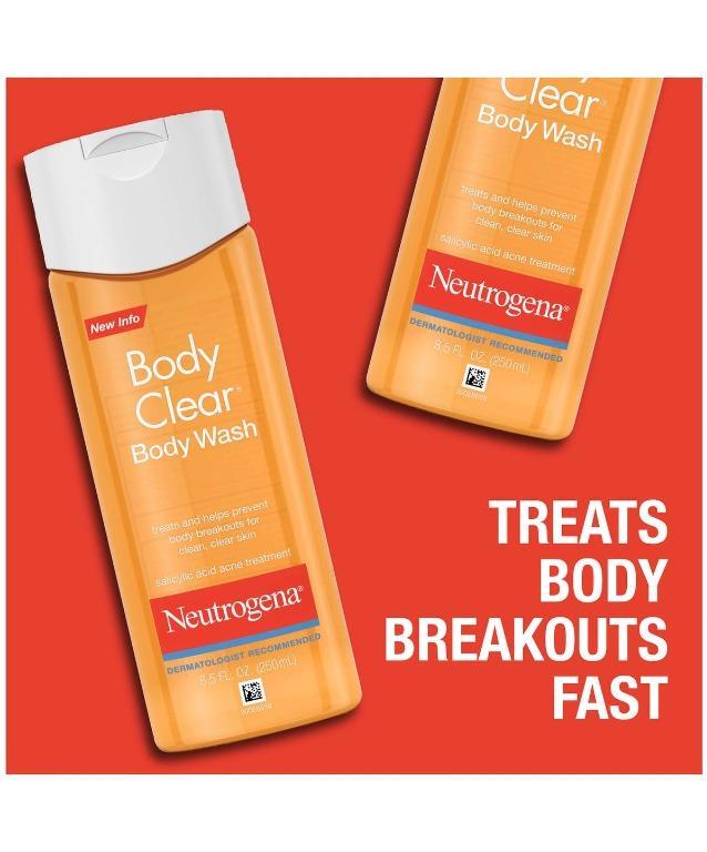 Instock Neutrogena Body Clear Acne Treatment Body Wash With