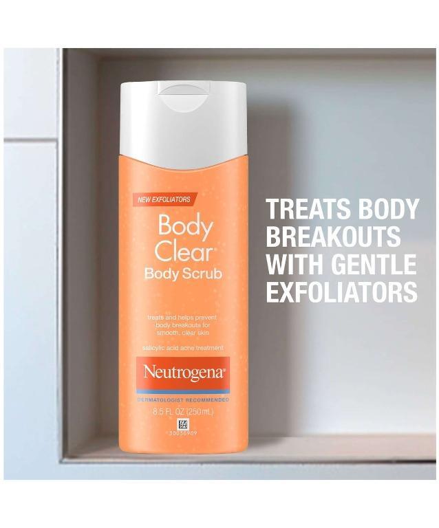 Instock Neutrogena Body Clear Oil Free Body Scrub With